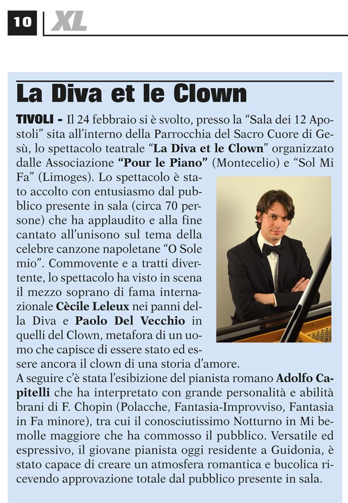 La Diva et le Clown sul periodico XL